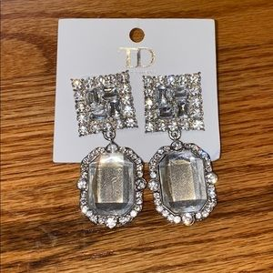 Crystal big earrings from True Decadence